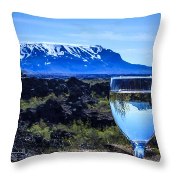 Cheers To Iceland Throw Pillow by Peta Thames