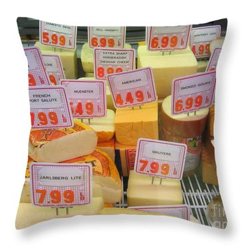 Cheese Display Throw Pillow