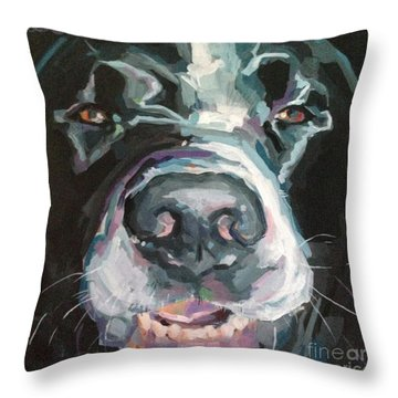 Cheese Throw Pillow by Kimberly Santini