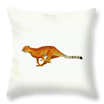 Cheetah Throw Pillow by Michael Vigliotti
