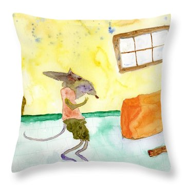 Cheeze Thief Throw Pillow