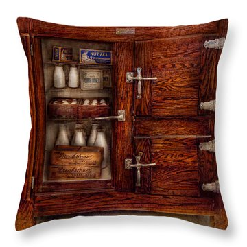 Chef - Fridge - The Ice Chest  Throw Pillow by Mike Savad