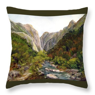 Cheile Turzii - Turda Gorges - Romania Throw Pillow