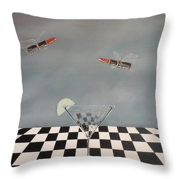 Chella's Martini Throw Pillow by John Lyes