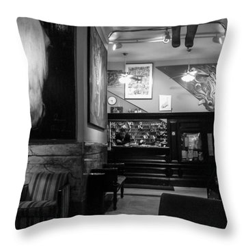 Chelsea Hotel Night Clerk Throw Pillow