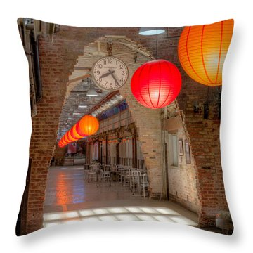 Chelsea Market I Throw Pillow by Clarence Holmes