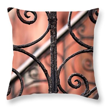 Chelsea Wrought Iron Abstract Throw Pillow