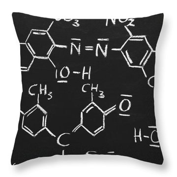 Chemical Formulas Throw Pillow by Chevy Fleet