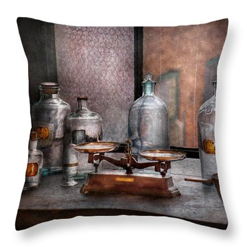 Chemist - The Art Of Measurement Throw Pillow by Mike Savad