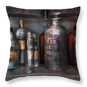 Chemist - Things That Burn Throw Pillow by Mike Savad