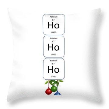 Chemistry - Ho Ho Ho Bell Pull Throw Pillow
