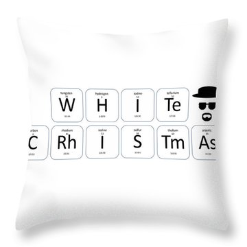 Chemistry - White Christmas Throw Pillow
