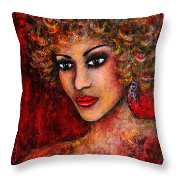 Cherise Throw Pillow by Natalie Holland