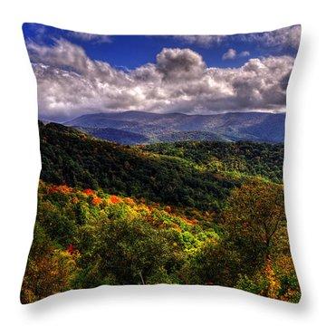 Cherohala Skyway Brushy Ridge Overlook Throw Pillow