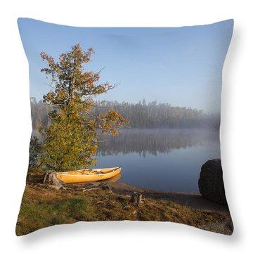 Cherokee Lake Sunrise Throw Pillow
