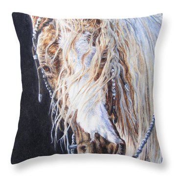 Cherokee Rose Gypsy Horse Throw Pillow