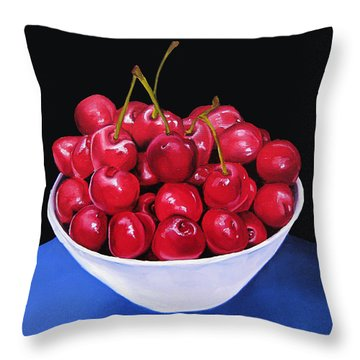 Cherries II Throw Pillow