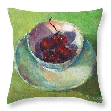 Cherries In A Cup #2 Throw Pillow by Svetlana Novikova