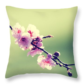 Throw Pillow featuring the photograph Cherry Blooms by Yulia Kazansky