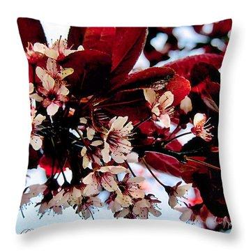 Cherry Blosoms 2 Throw Pillow by Danielle  Parent