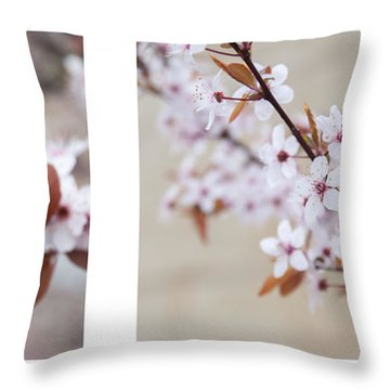 cherry blossom II Throw Pillow by Hannes Cmarits