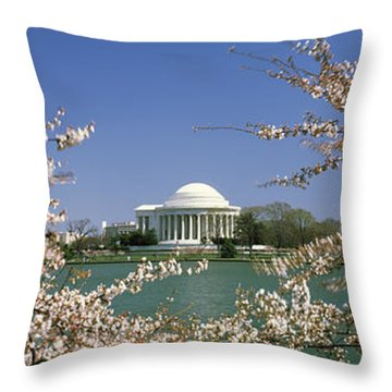 Cherry Blossom With Memorial Throw Pillow