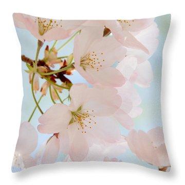 Cherry Blossoms 2 Throw Pillow