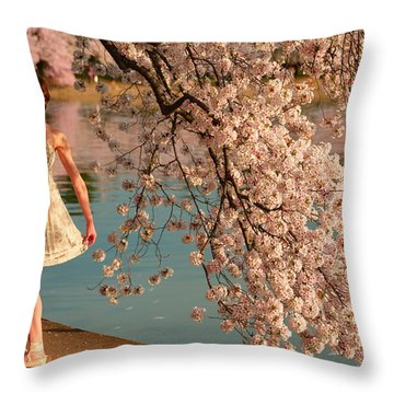 Cherry Blossoms 2013 - 082 Throw Pillow
