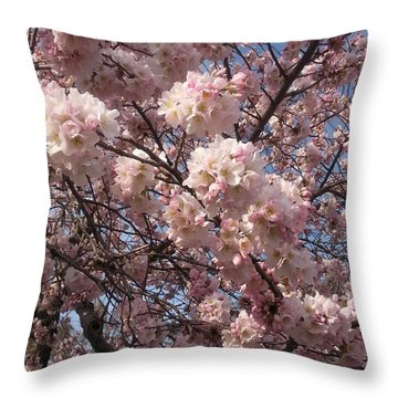 Cherry Blossoms For Lana Throw Pillow