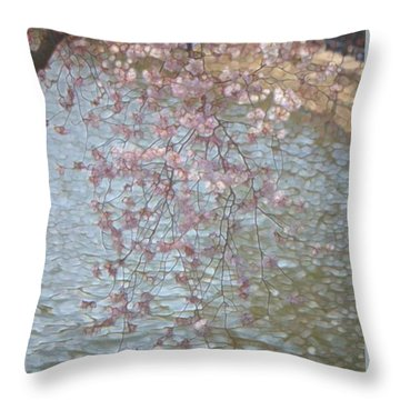 Cherry Blossoms P2 Throw Pillow