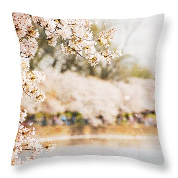 Throw Pillow featuring the photograph Cherry Blossoms In Washington Dc by Vizual Studio