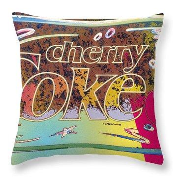 Cherry Coke 5 Throw Pillow by John Keaton