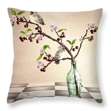Cherry Coke Throw Pillow