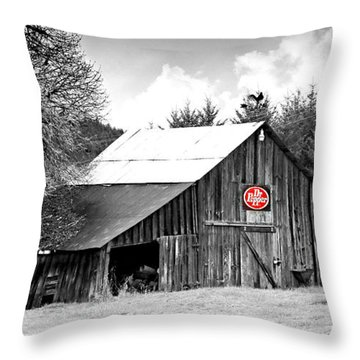 Cherry Dr Pepper Throw Pillow by Katie Wing Vigil