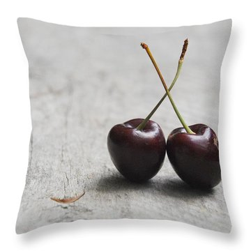Cherry Duo Throw Pillow