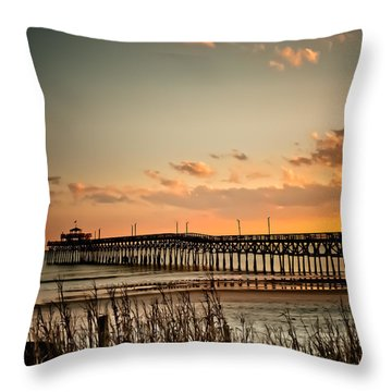 Cherry Grove Pier Myrtle Beach Sc Throw Pillow
