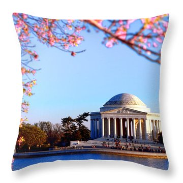 Cherry Jefferson Throw Pillow