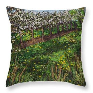 Cherry Orchard Evening Throw Pillow