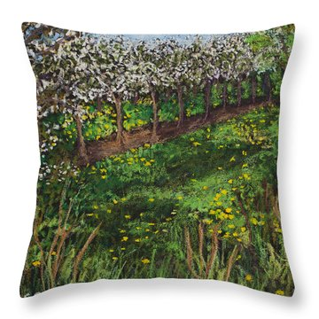 Cherry Orchard Evening Throw Pillow