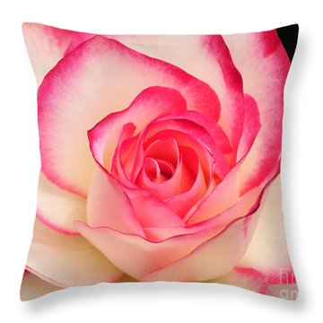 Cherry Parfait Rose Throw Pillow by Olivia Hardwicke
