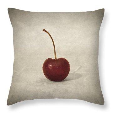 Cherry Throw Pillow by Taylan Apukovska