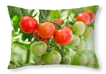 Cherry Tomato Throw Pillows