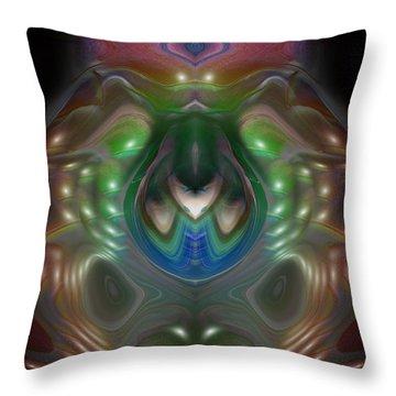 Throw Pillow featuring the digital art Cherub 5 by Otto Rapp