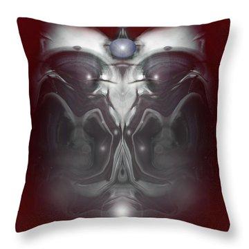 Throw Pillow featuring the digital art Cherub 7 by Otto Rapp