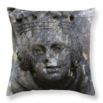 Cherub In Stone Throw Pillow
