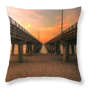 Chesapeake Bay Bridge IIi  Throw Pillow