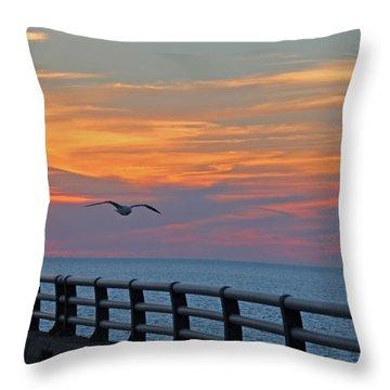 Chesapeake Bay Bridge Throw Pillow
