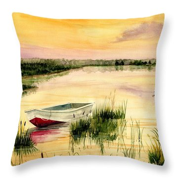Chesapeake Marsh Throw Pillow