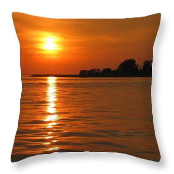 Chesapeake Sun Throw Pillow by Photographic Arts And Design Studio