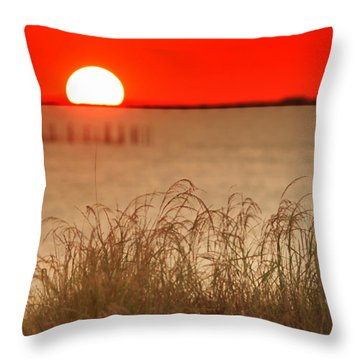 Chesapeake Sunset Throw Pillow